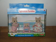 Sylvanian Families The Devons' New Arrival Mum, Dad & baby in pushchair BNew