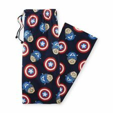 NEW Mens Captain America Pajamas Pants Size Small Fleece Avengers Marvel S NWT