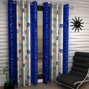 Modern Floral Print Yarn Tulle Curtain For Living Room Window Home Garden Decor