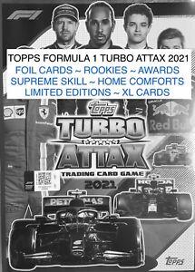 2021 TOPPS FORMULA 1 TURBO ATTAX FOIL ~ SUPREME ~ LTD EDITION ~ XL ~ TIN CARDS