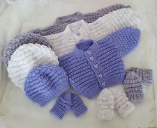 Knitting Pattern 70 TO KNIT Baby Cardigan Hat Mittens Boys/Girls/Reborn Dolls