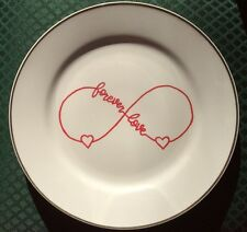 Forever Love Infinity Decorative Plate - Valentines Gift - Wall Decor - Ooak
