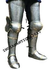 Armor Halloween Medieval Leg Guard Armor 18 gauge Steel Graves Medieval Costume