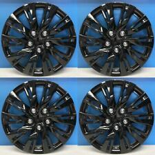 2012 2014 Toyota Camry Style 1037 16blk 16 Black Hubcaps Wheel Covers New Set Fits Toyota
