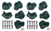 Climbing Stones Handgrips Heavy Duty Plastic Green Climbing Wall Footholds Grips