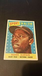 1958 topps set #488  Hank Aaron Braves outfielder All Star