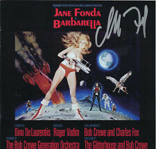 BARBARELLA Charles Fox CD Signed AUTOGRAPHED Soundtrack SCORE Jane Fonda MINT!