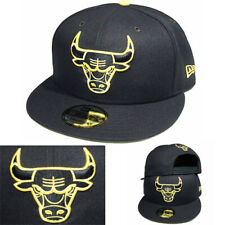 pretty nice 1e96d 37643 New Era NBA Chicago Bulls Navy Blue Snapback Hat navy Amarillo Yellow Logo  Cap