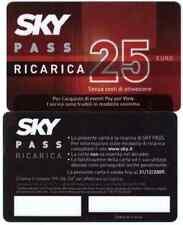 SCHEDA USI SPECIALI CARTA BASE SKY PASS RICARICA 25 EURO