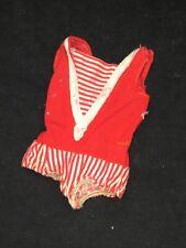 Vintage 1964 Mattel Skipper Doll Red White Sailor Swimsuit #950