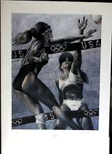 "WOMEN'S BEACH VOLLEYBALL Steven Holland S/N Limited Edition Lithograph 26"" x 40"""