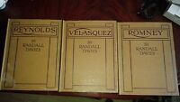 Set of Art First Edition Books by Randall Davies: Reynolds, Romney, Velasquez