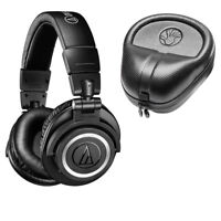 Audio Technica ATH-M50xBT Bluetooth Wireless Over-Ear Headphones w/ Free Case