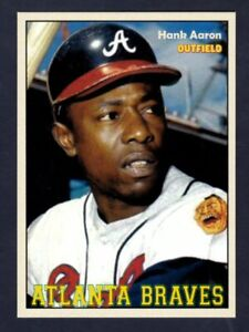 Hank Aaron '74 Atlanta Braves, Monarch Corona Majestic Series #1, NM+ condition