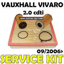Vauxhall Vivaro 2.0 cdti Diesel MR9 Oil Air Fuel Filters Service Kit 2006 on