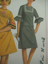 Vintage Simplicity 6717 A-LINE SKIRT & RUFFLED SLEEVE TOP Sewing Pattern Women