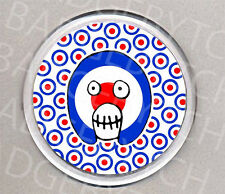 MIGHTY BOOSH KING OF THE MODS round drinks COASTER - COOL!