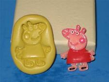 Peppa Pig Silicone Push Mold Food Grade Mould Chocolate Sugarcraft Resin A244
