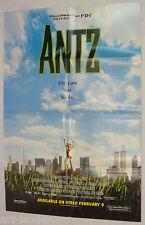 ANTZ Original 1998 One Sheet Movie Poster 27x41 Folded DreamWorks Woody Allen