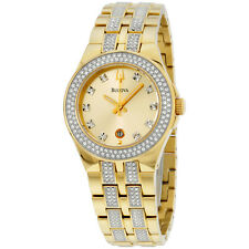 Bulova Women's 98M114 Crystal 32 mm Stainless Steel Band Quartz Casual Watch