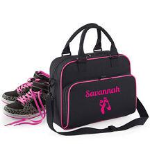 Personalised ballet bag/Dance kit bag/holdall, black, pink or purple, customised