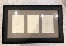 New Pottery Barn Triple Matted Black Gallery Wall or Tabletop Wood Picture Frame