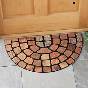 Natural-Looking Stone Pattern Slice Patio Porch Home Doormat