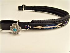 Perfeq Padded Browband with Native American Overlay and Conchos