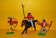 Timpo 3x Indianer G2 Reiter Krieger Waffen Speer Western Wildwest Toys (7)