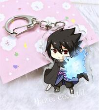 New listing Naruto Uchiha Sasuke Keychain Acrylic Key Ring Gift funny
