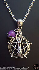 """Spiral Goddess Pentacle Unique Design 2mm 20"""" Chain. As pictured"""