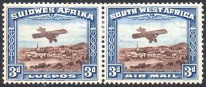 South West Africa 1931 3d brown & blue, airmail, SG.86, mint, cat.£29