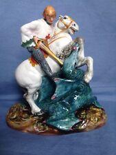 """vintage Royal Doulton St. George & Dragon Figure 7.5"""" Excellent Cond. HN2051"""