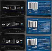 3 used CASSETTES 3 x maxell C90 UD I writing on inlays