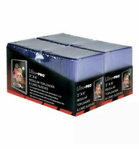 200 Ultra Pro Regular 3x4 Top loaders Toploaders & 200 Sleeves Combo