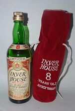 INVER HOUSE WHISKY RED PLAID RARE SCOTCH WHISKY EIGHT YEARS OLD  75cl 86 PROOF