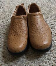 Men's Roper Performance Slip On Shoes-Ostrich Print Grain Leather Sz 10D