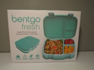 Bentgo Fresh – New & Improved Leak-Proof, Versatile 3 or 4-Compartment Lunch Box