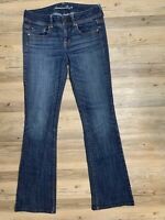 American Eagle Women's Original Boot Cut Jeans Size 4 Super Stretch GREAT CLEAN