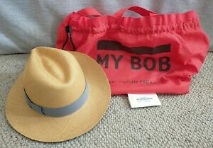 My Bob Use Your Head Panama Hat 100% Straw Made in Ecuador Size Medium RRP €120
