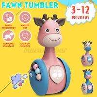 Tumbler Toy Cartoon Rattle Baby Boy Girls Toddler Early Education Learning Tool