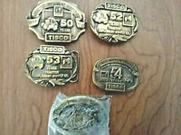 TISCO Tractor Implement Supply Co Belt Buckle 50, 52, 53, 54 & 60 years (5)