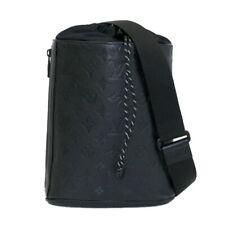 Auth Used LOUIS VUITTON Chalk Sling bag Monogram Shadow Black 366958