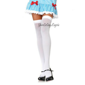 Sexy NEON Thigh High STOCKINGS Opaque OVER-THE-KNEE School Girl RAVEWEAR OS