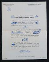 Brochure publicitaire Bureau d'itinéraire MICHELIN 1925 automobilia