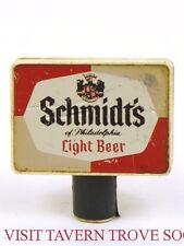 Scarce 1970s Schmidt's Philadelphia Beer plastic Tap Handle Tavern Trove