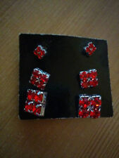 George Stud Costume Earrings