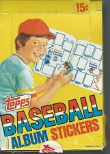 1981 Topps Baseball Complete Sticker Box of 100 Packs of 4 Stickers Each