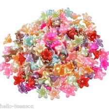 """1000PCs Mixed Flower Acrylic Spacer Beads 13x13mm(4/8""""x4/8"""")"""