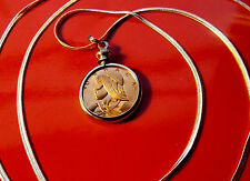 "Native Freedom Fighter URACA Pendant on a 30"" 925 Sterling Silver Snake Chain"